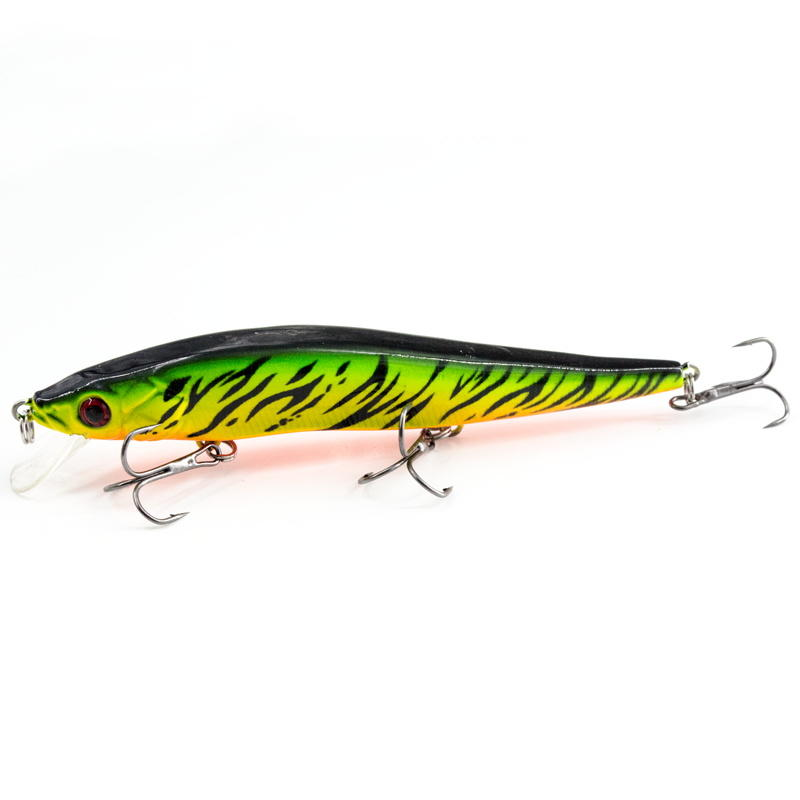FISHING LURE 4.5INCH MINNOW LURE HARD BAIT WITH RATTLES - YH09C