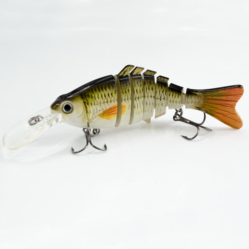 FISHING LURE BEST SWIMMING ACTION 4.8INCH 7 JOINTED SWIM BAIT - YL02-M