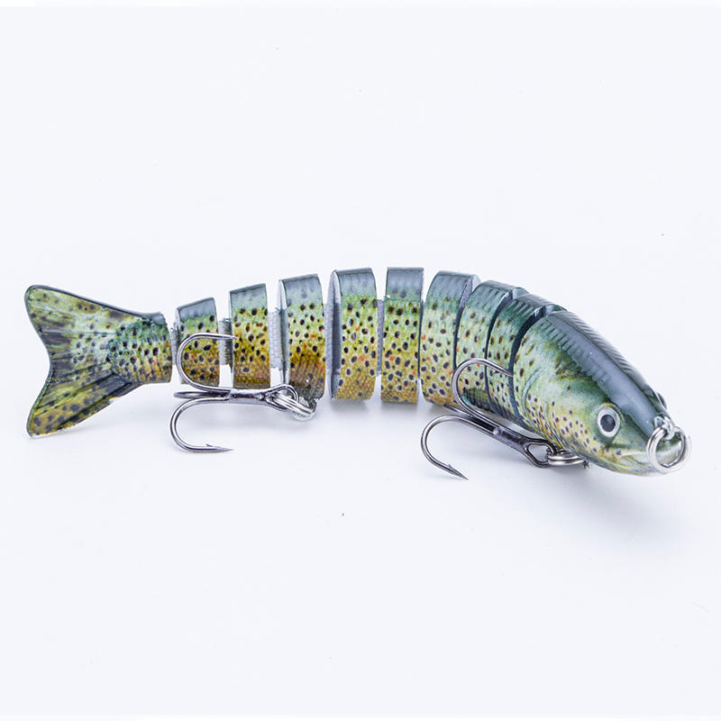 FISHING LURE 4INCH 10 JOINTED TROUT SWIM BAIT - YL05B-Y