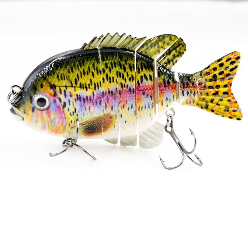 FISHING LURE 4INCH 3.2INCH 2.2INCH JOINTED TILAPIA SWIM BAIT - YL10C-Y