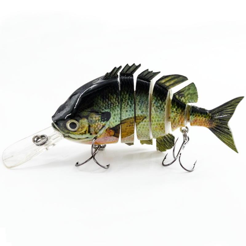 FISHING LURE 4INCH 6 JOINTED TILAPIA SWIM BAIT - YL10B-M