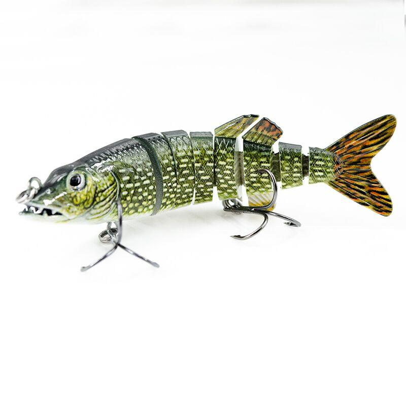 FISHING LURE 4.3INCH 8 JOINTED BABY PIKE LURE SWIM BAIT - YL15D