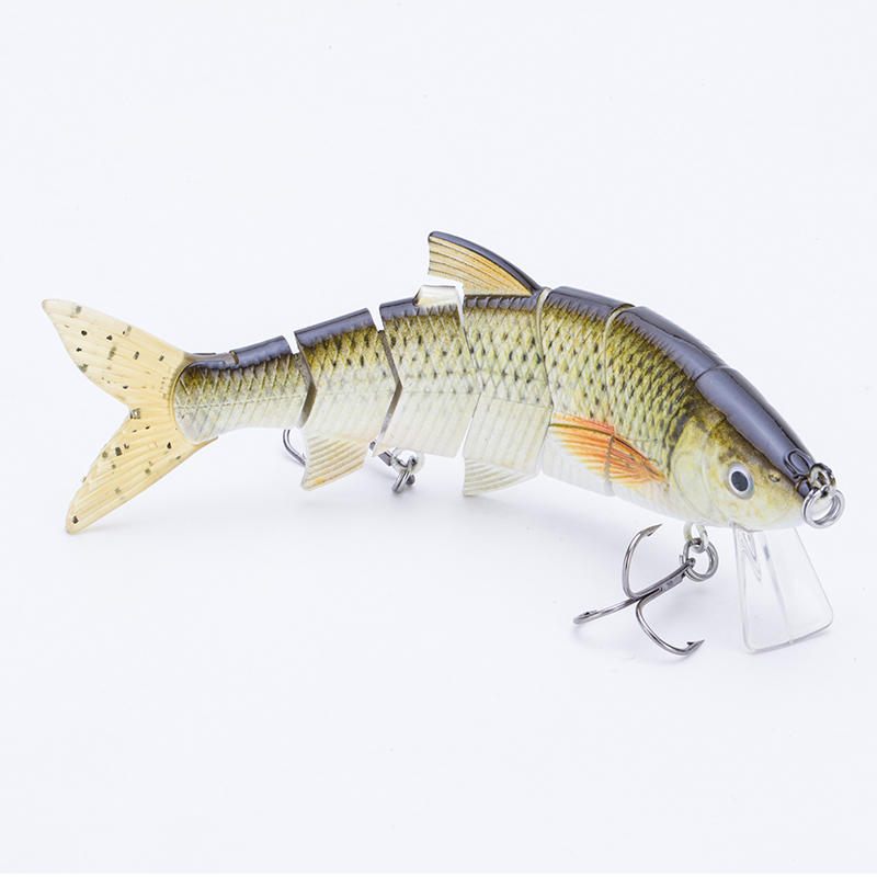 FISHING LURE 6INCH 6 JOINTED SOFT TAIL SWIM BAIT FOR BASS FISHING - YL20-M
