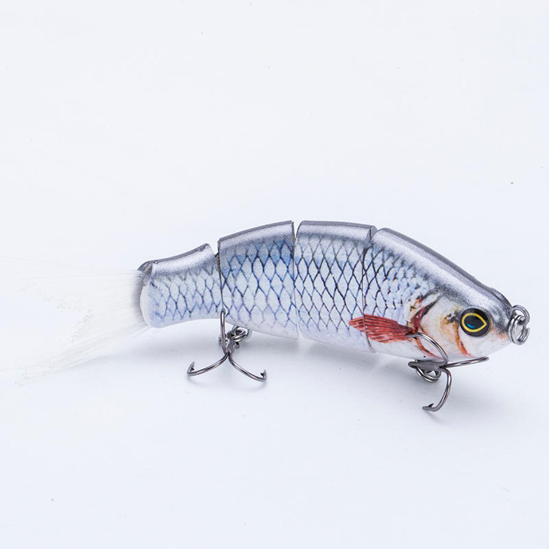 FISHING LURE 4INCH 4 JOINTED HARD PLASTIC TAIL SWIM BAIT - YL30A