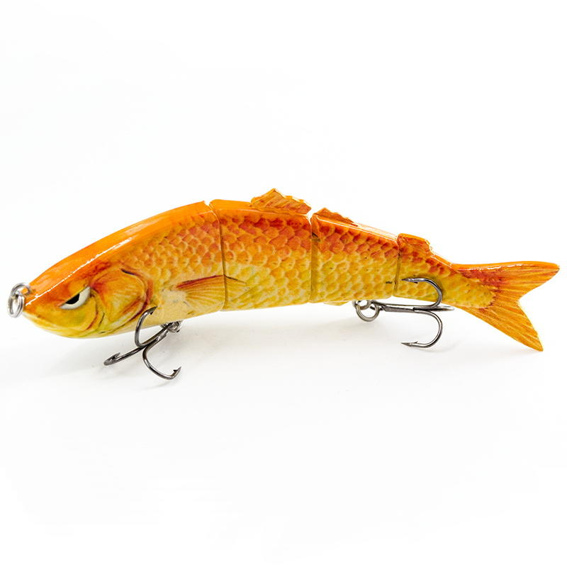 FISHING LURE 5INCH 4 JOINTED SWIM BAIT - YL03C