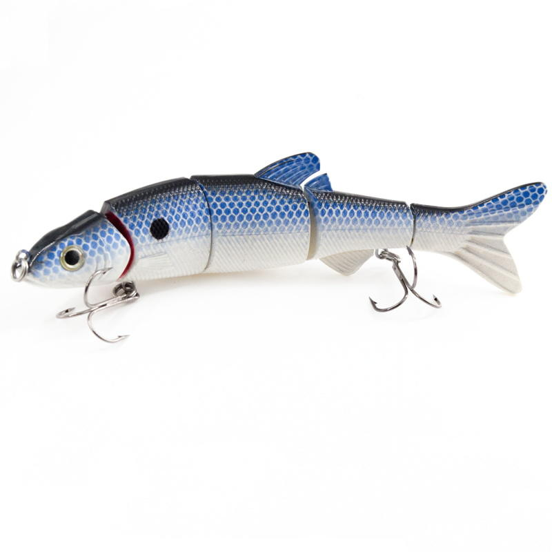 FISHING LURE 6.5INCH 5 JOINTED MUSKY LURE SWIM BAIT - YL12B