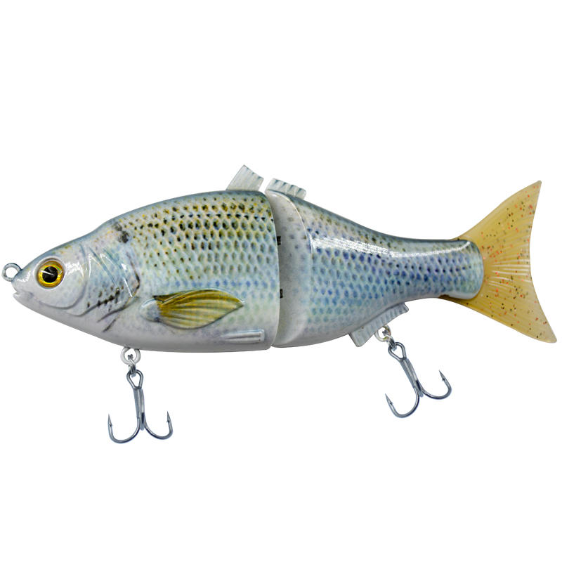 FISHING LURE WHOLESALE BAIT 6INCH 2 JOINTED SOFT TAIL SWIM BAIT  - YL16-S