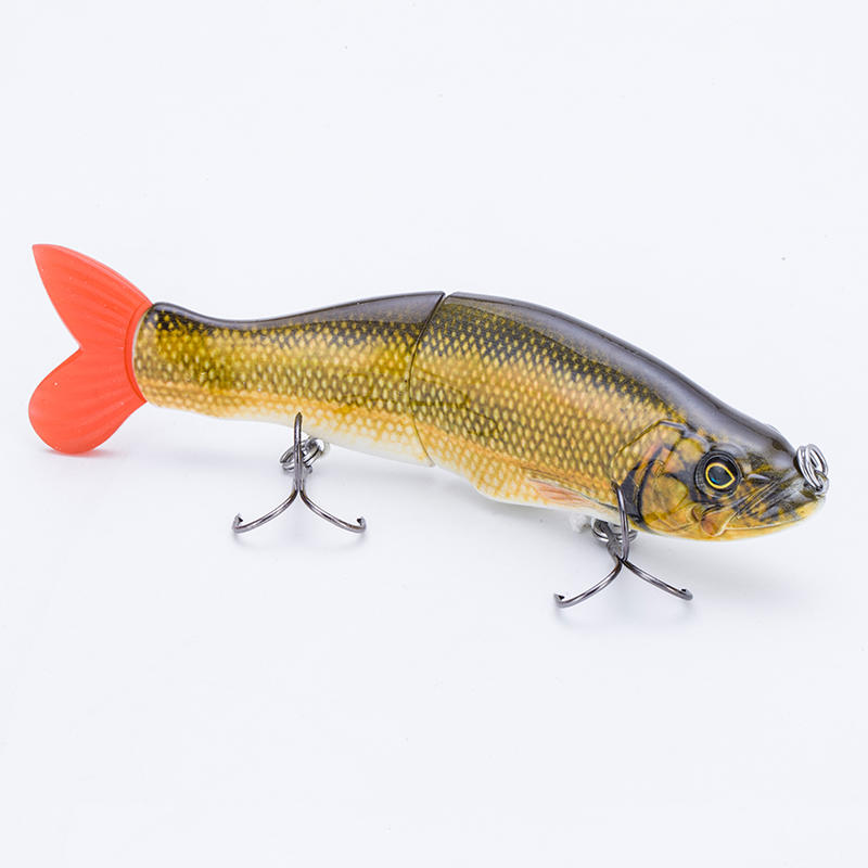 FISHING LURE 5.4INCH 2 JOINTED SOFT TAIL MAGNET TIGHT ON BELLY SWIM BAIT - YL19-S