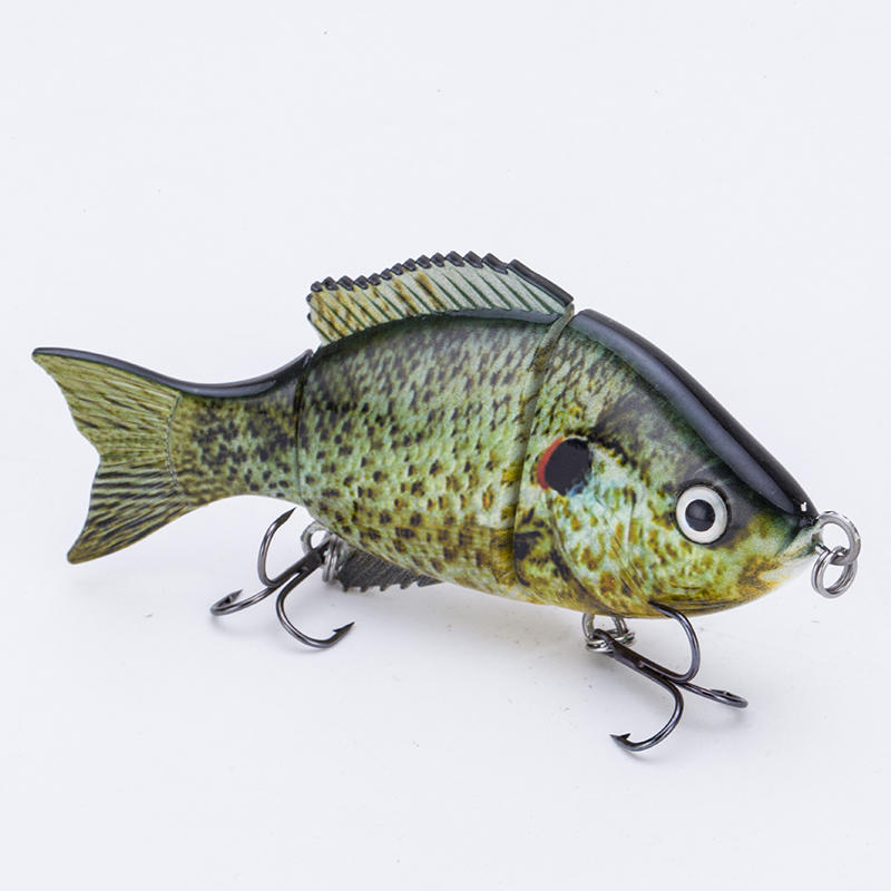 FISHING LURE 3.5INCH 3 JOINTED TILAPIA SWIM BAIT - YL23