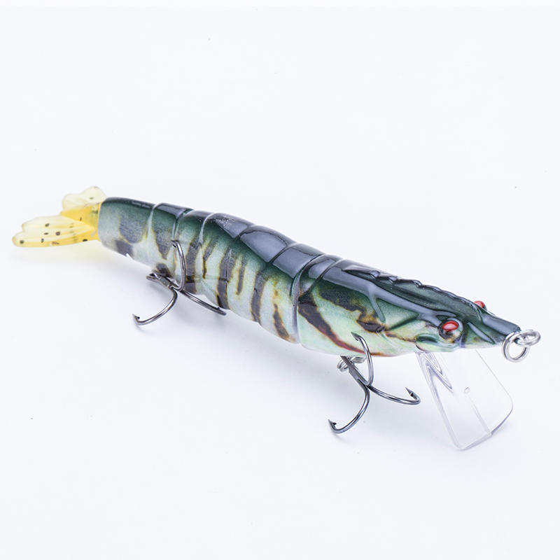 FISHING LURE 5INCH 3 JOINTED SOFT TAIL SHRIMP SWIM BAIT - YL26-M