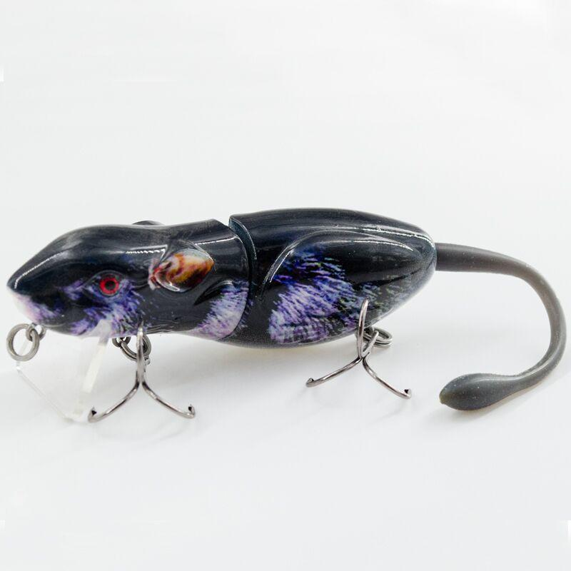 FISHING LURE 3.5INCH 2 JOINTED RAT SWIM BAIT - RAT 2-M