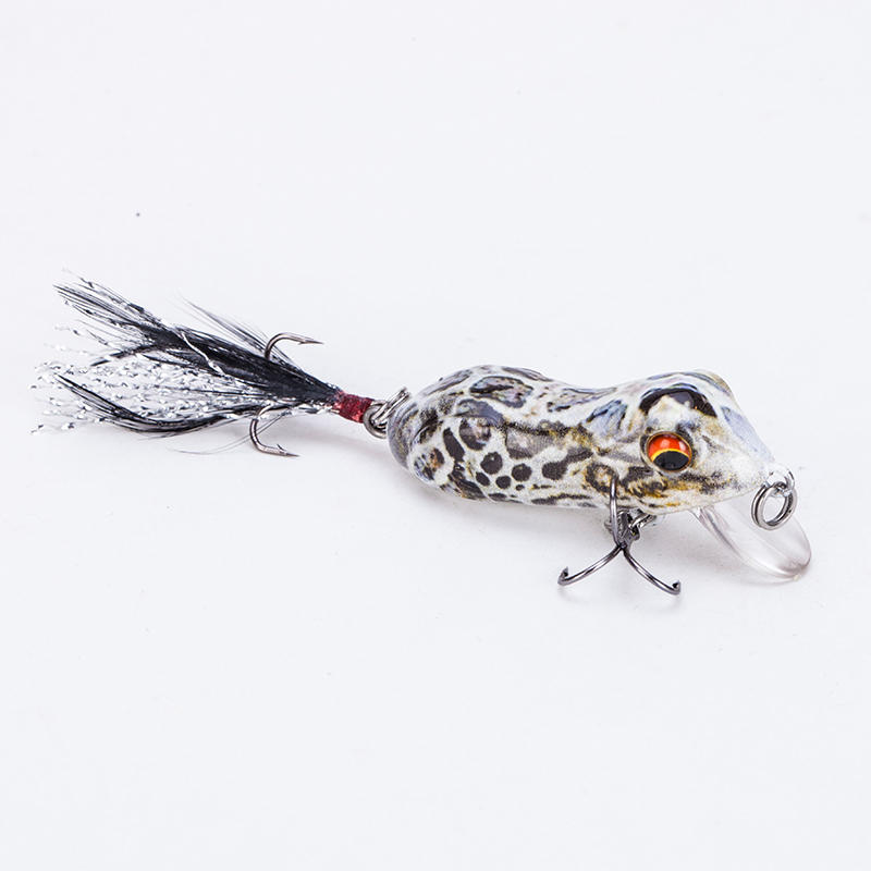 FISHING LURE 1.9INCH NATURAL COLOR FROG HARD BAIT - YR03A