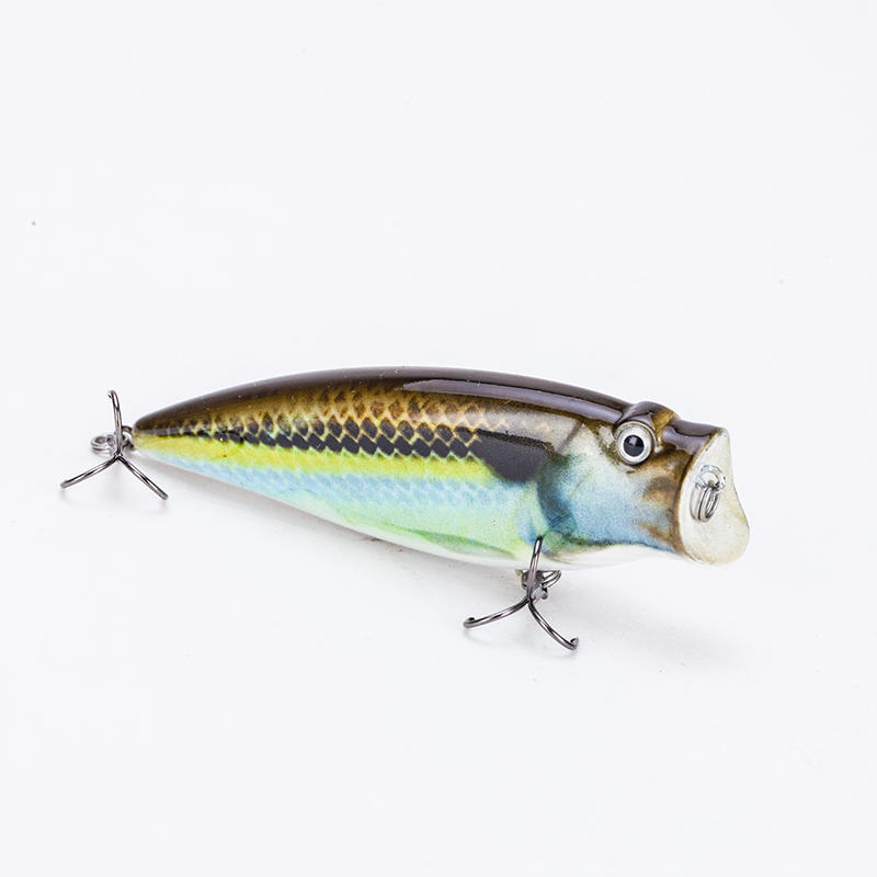 Factory handmade 3.5inch popper fishing lure with sharp hooks---YH05