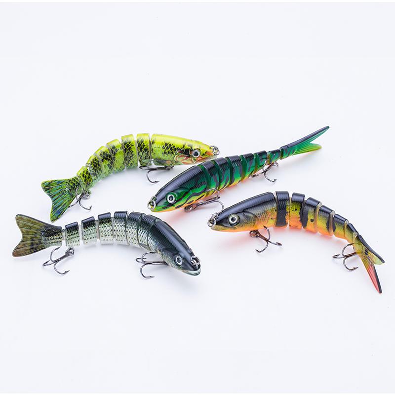 Factory nature color fishing rainbow trout swim bait --- YL05C-Y
