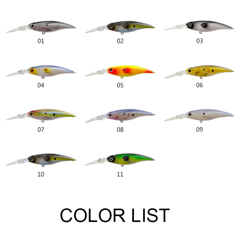 hot-sale bass fishing lures plastic handmade-8