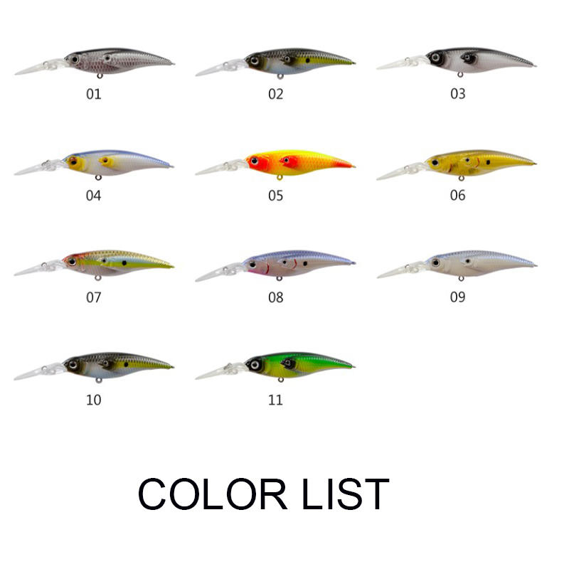 hot-sale bass fishing lures plastic handmade