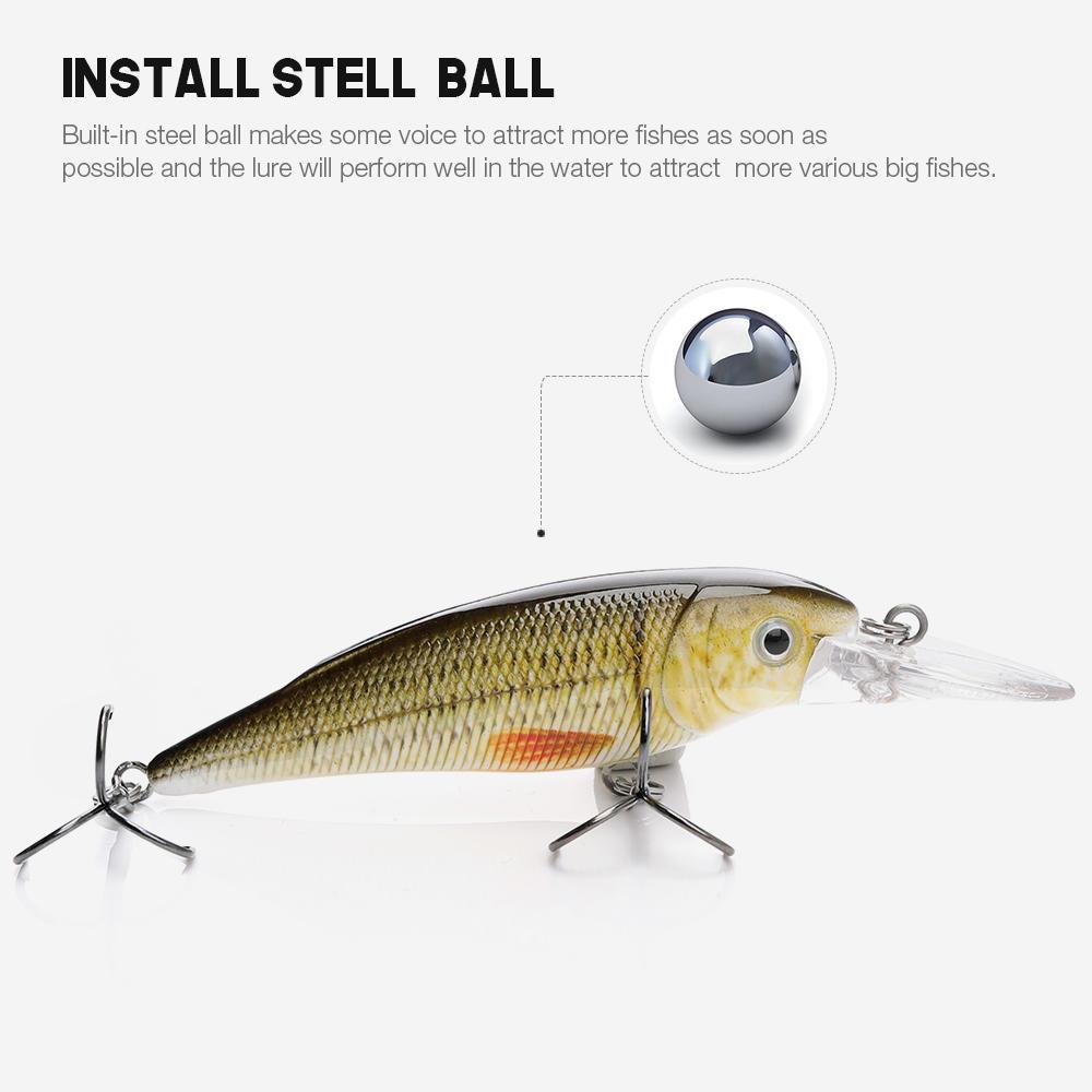 realistic hard wobbler fishing lure minnow