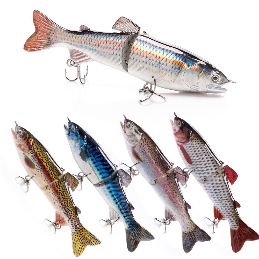 120mm 23.3g realistic 2 segmented jointed fish lure