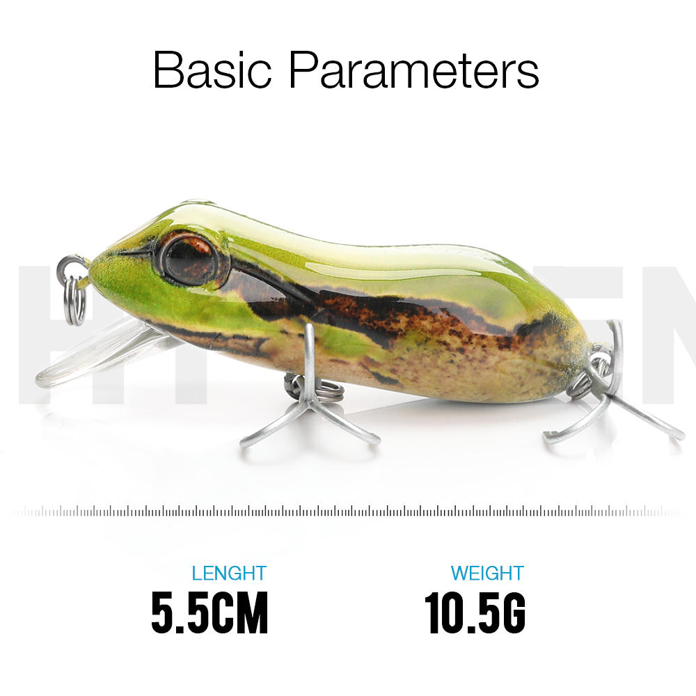frog fishing lures plastic with 2 hooks