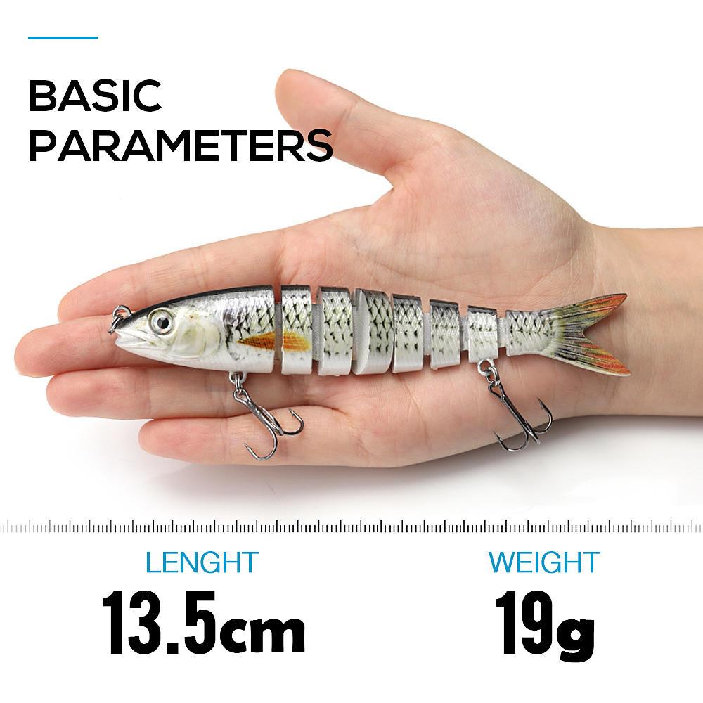 VTAVTA 14cm 23g Sinking Wobblers Fishing Lures Jointed Crankbait Swimbait 8 Segment Hard Artificial Bait For Fishing Tackle Lure