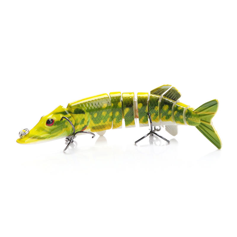 VTAVTA Artificial Pike Lure Bait Multi Jointed Bait 12.5cm 20g Lifelike Crankbaits Fishing Wobblers Swimbait Sea Fishing Lure