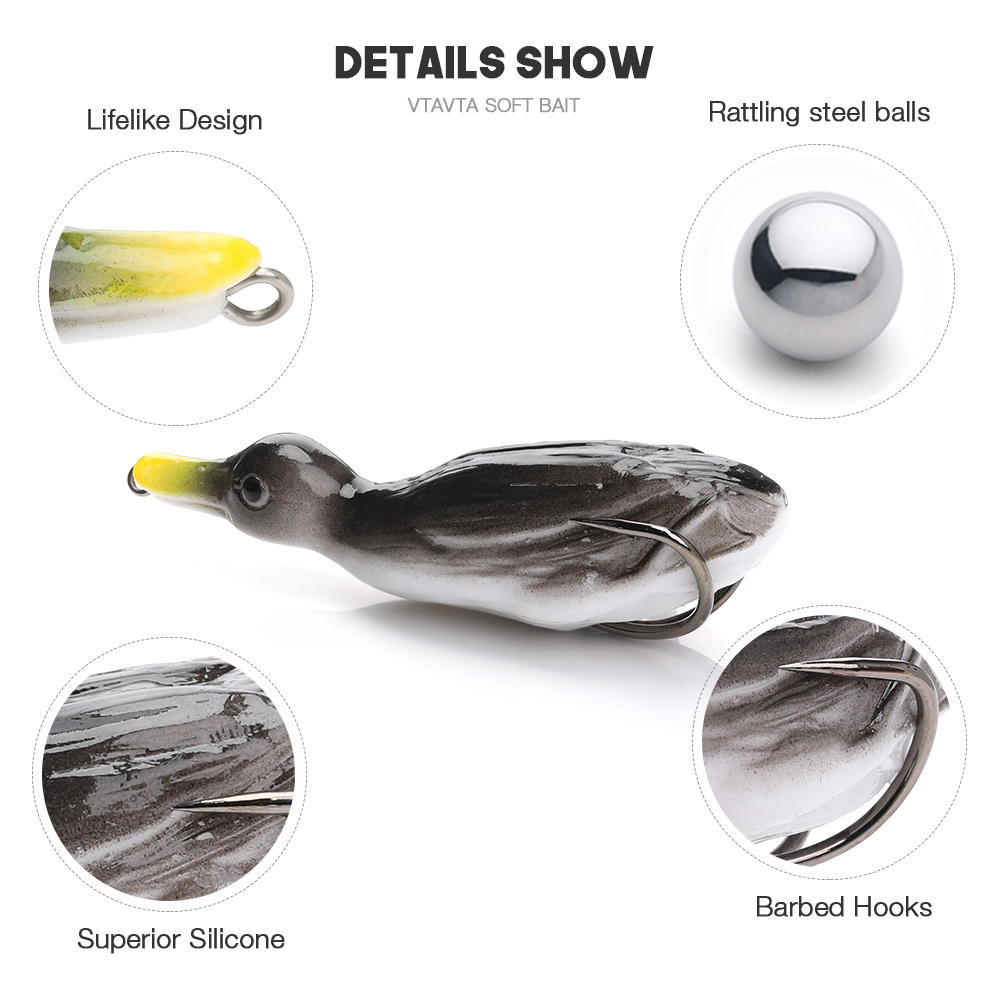 Duck Soft Lure Wobbler for Fishing