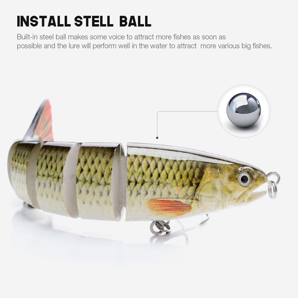 12.5cm 21g 6 Segments Wobbler Fishing Lure
